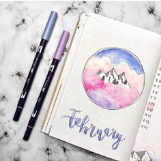 "924 Likes, 6 Comments - The Journal Life (@the.journal.life) on Instagram: ""This is beautiful!! ⛰ @lafondari • • • #bujo #bulletjournals #bulletjournal #bullet #journal…"""