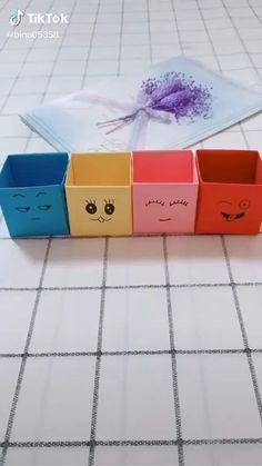 Cool Paper Crafts, Paper Crafts Origami, Diy Paper, Fun Crafts, Diy Crafts For Teens, Diy Crafts Hacks, Diy Crafts For Gifts, Creative Crafts, Instruções Origami