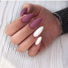 Make an original manicure for Valentine's Day - My Nails Winter Nail Designs, Cool Nail Designs, Acrylic Nail Designs, Cute Acrylic Nails, Matte Nails, Fun Nails, Winter Nails, Spring Nails, Summer Nails