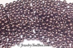 Metal Seed Beads, 8/0, Size 8, ANTIQUE COPPER Plated, 2x3mm, Brass Spacers, Made in the USA, Lead Free, Lot Size 18 to 38 grams, #1432