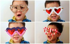 Cereal Box Heart Glasses (Template included)