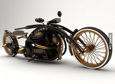 Russian Steampunk Motorcycle