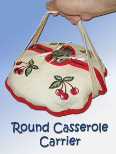 Embroidery Library - Machine Embroidery Designs Inspired Project Page Round Casserole Carrier Sewing Hacks, Sewing Tutorials, Sewing Crafts, Fabric Crafts, Sewing Projects, Sewing Patterns, Casserole Carrier, Love Sewing, Sewing For Beginners