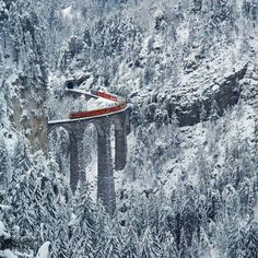 The Landwasser Viaduct in Switzerland