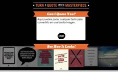 Recite es una utilidad web gratuita para crear bonitas imágenes incluyéndoles los textos que queramos y después compartirlas en las redes sociales.