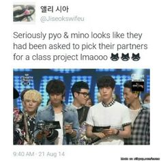 P.O and Mino's friendship <3 | allkpop Meme Center
