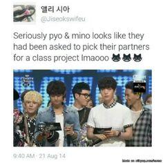 P.O and Mino's friendship <3 | allkpop Meme Center