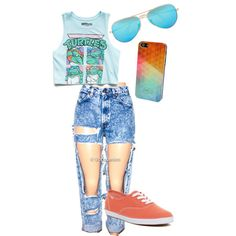 Untitled #9 by rosserchereka on Polyvore featuring polyvore, fashion, style, Forever 21, Keds, Ray-Ban and TWO-O