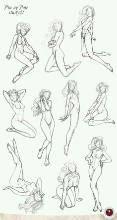 Pin-up Poses: Anatomy references for figure drawing. Drawing Techniques, Drawing Tips, Drawing Reference, Female Drawing Poses, Body Drawing, Figure Drawing, Drawing Practice, Life Drawing, Drawing Art