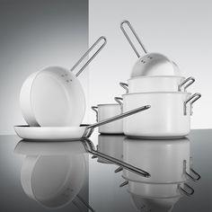 Eva Solo - Eva Trio Ceramic Coated Saucepan - White - 1.8L