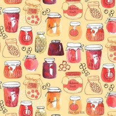 Mellow fruitfulness season with these jellies and jams . . . . #ohnmarwin #artprocess #foodillustration #autumnmood #autumnishere #theydrawandcook #jelly #doitfortheprocess #watercolorist #createeveryday #creativebusiness #illustratorlife #originalpainting #creatingart #creatorslane #handpainted #creativehappylife