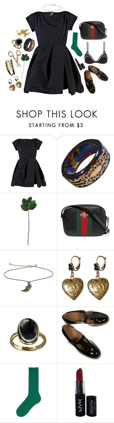 """Untitled #444"" by cupcakebeth ❤ liked on Polyvore featuring Carven, Laura Cole, Gucci, Topshop, Dolce&Gabbana, Handle, Uniqlo, NYX and Zimmermann"
