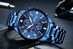 BOYZHE Men Luxury Brand Automatic Mechanical Sports Watches for Men Luminous Waterproof Stainless Steel Leather Watch Breitling Watches, Timex Watches, Elegant Watches, Beautiful Watches, Sport Watches, Cool Watches, Wrist Watches, Best Mens Luxury Watches, Rolex