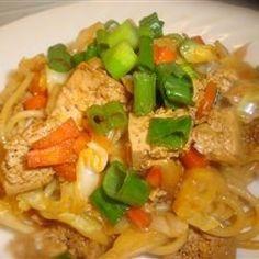 Food Recipes: Sesame Asian Tofu Stir-Fry