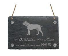 Schiefertafel-CANE-CORSO-EIN-ZUHAUSE-OHNE-HUND-IST-Hund-Dog