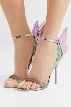 Sophia Webster - Chiara Metallic Leather Sandals - Silver