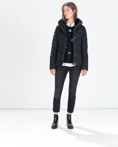 Image 1 of SHORT PARKA WITH FITTED WAIST from Zara