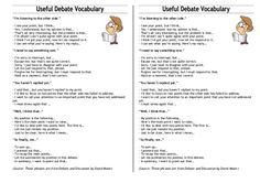 Forum | ________ Learn English | Fluent LandDebating Vocabulary | Fluent Land