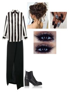 """""""Untitled #152"""" by sara-horton-1 on Polyvore featuring Ann Demeulemeester, Balmain and Barneys New York"""