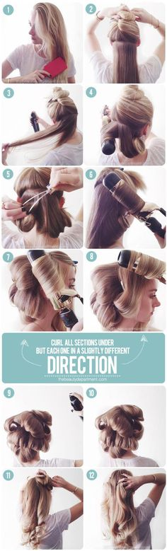 how to fake a professional blowdry with a curling iron