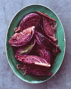 The phytochemicals that give red cabbage its lovely color may protect against cellular damage in our bodies. Hearty wedges hold their own next to robust flavors: Caramelized onions, cider vinegar, and a touch of brown sugar sweeten the German-inspired dish, while a cinnamon stick adds fragrant warmth.