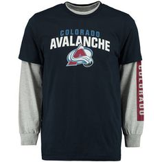 Rinkside Colorado Avalanche Navy/Gray 3-in-1 Combo T-Shirt Set