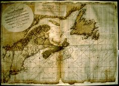The Coast of Nova Scotia, New England, New York, Jersey, The Gulph and River of St. Lawrence, The Island of Newfoundland, Cape Breton, St. John, Anticosti, Sable & c. and soundings thereof;  Published for the use of the Royal Navy of Great Britain, under the authority of the Right Hon. the Lords Commissioners of the Admirality, by J. F. DesBarres, Esq, Nov, 1780.    Archives and Special Collections, University of New Brunswick