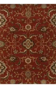 Oriental Weavers Casablanca 4471B Red Rug -- nice pattern, not in love with the colors