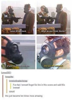 A true Doctor Who fan and the Doctor