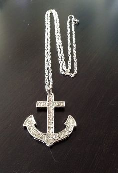 Items similar to Anchor pendant necklace with silver plated adjustable chain on Etsy Dog Tag Necklace, Arrow Necklace, Pendant Necklace, Anchor, Silver Plate, Chain, Trending Outfits, Unique Jewelry, Handmade Gifts