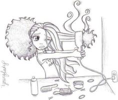 straightening.. curly hair girl problems!!