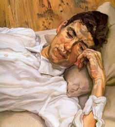 "Contemporary Paintings ( ""Painting by Lucian Freud"" Painting People, Figure Painting, Painting & Drawing, Lucian Freud Paintings, Lucian Freud Portraits, Antoine Bourdelle, Amedeo Modigliani, Artists And Models, Portrait Art"