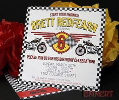 Motorcycle party invite