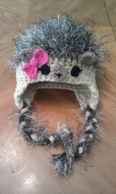 Ravelry: Project Gallery for Hedgehog Hat pattern by Briana Olsen Soooo cute! Crochet Animal Hats, Crochet Kids Hats, Crochet Beanie, Knit Or Crochet, Cute Crochet, Crochet Crafts, Yarn Crafts, Knitted Hats, Yarn Projects