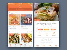 Food Delivery Mobile App by Bagus Fikri #Design Popular #Dribbble #shots