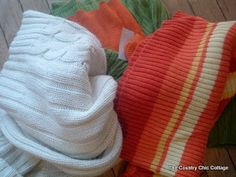 How to make sweater pumpkins -- NO SEWING!! ~