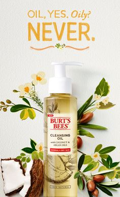 You love your face care regimen, but maybe you're looking to switch it up a little bit. Try the cleansing oil method! Burt's Bees 100% natural Cleansing Oil is formulated with vitamin-rich Coconut and Argan Oils, to help retain skin's moisture and elasticity without leaving an oily residue.