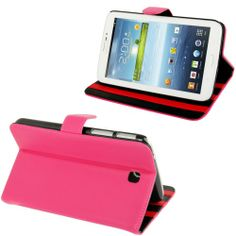 Samsung Galaxy Tab 3 (7.0) PU lederen cover, case, hoes Roze