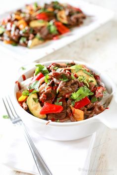 "The Noshery | Spicy Pepper Steak ""Take-Out"" 