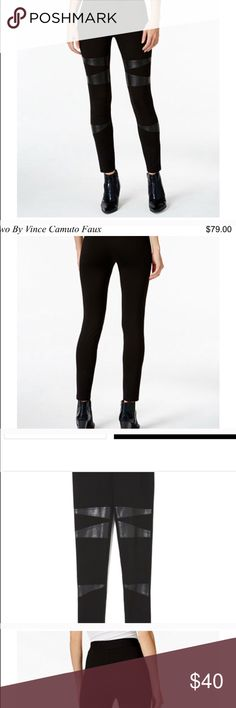 Almost new Vince Camuto legging pants I legit just bought these but they are a bit big since they do run a little big. They are so cute and comfortable tho! I'm selling for half what I paid last week! I wore them for a day Vince Camuto Pants Leggings