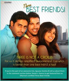 Three Best Friends- Sam, Kunal & Neha