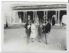 Antique private photo with Hungarian people Paris Trianon Palace arcades 1931 Antique Photos, Vintage Photographs, Old Photos, Vintage Photos, Lewistown Mt, Trianon Palace, Gas Service, France Colors, Arcade
