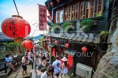 The seaside mountain town scenery in Jiufen royalty-free stock photo