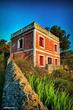 Karlovasi, Samos, Greece, Red House