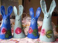 Cute felt bunnies
