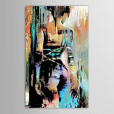 Hand Painted Oil Painting People Naked-Back Figures with Stretched Frame - USD $ 79.99