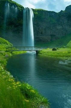 Seljalandsfoss is a waterfall in Iceland . Seljalandsfoss is located in the South Region in Iceland right by Route 1 and the road tha. Dream Vacations, Vacation Spots, Places To Travel, Places To See, Travel Destinations, Winter Destinations, Places Around The World, Around The Worlds, Photos Voyages