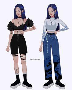 Cool Anime Girl, Beautiful Anime Girl, Kawaii Anime Girl, Aesthetic Fashion, Aesthetic Clothes, Character Outfits, Character Art, Anime Outfits, Cool Outfits