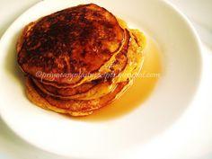 Healthy Pumpkin Pancakes: 1/2 cup Rolled Oats 1cup Yogurt 1/2 cup Whole Wheat pastry flour 1 cup brown rice flour 1 cup AP flour 1 cup Pumpkin puree  1/2 tsp Baking powder 2 tsp Honey 1 tbsp Maple Syrup 1/2 tsp Nutmeg powder 1/2 tsp Cinnamon powder pinch Salt Oil as per need