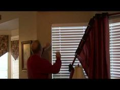 To hang curtains, figure out where the brackets need to go, pre-drill a small hole to figure out if dry wall anchors are necessary and install the brackets b. Hang Curtains, Love Your Home, Window Dressings, Home Repair, Home Look, Step By Step Instructions, Storage Organization, Jessie, Game Room